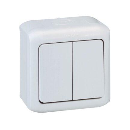 comutador lustre forix IP44 cinzento legrand 782382