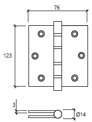dobradiça 5 segurança rolamento glk SRI dt