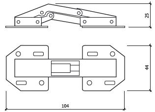dobradiça articulada glk 400 dt
