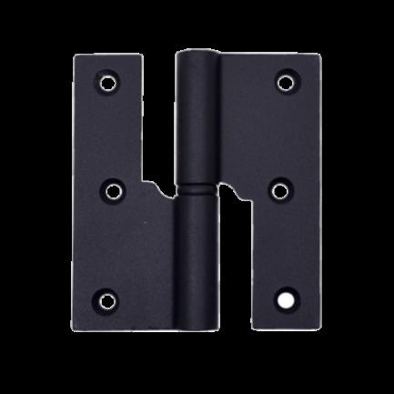 dobradiça balanço 3,5 esquerda glk 475z preto mate