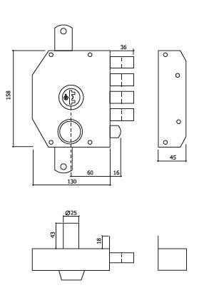 fechadura alta segurança com trancas GLK 9072 dt