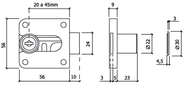 fechadura de movel glk 206 dt