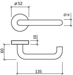 puxador de porta glk 8003 dt