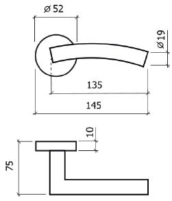 puxador de porta glk 8036 dt
